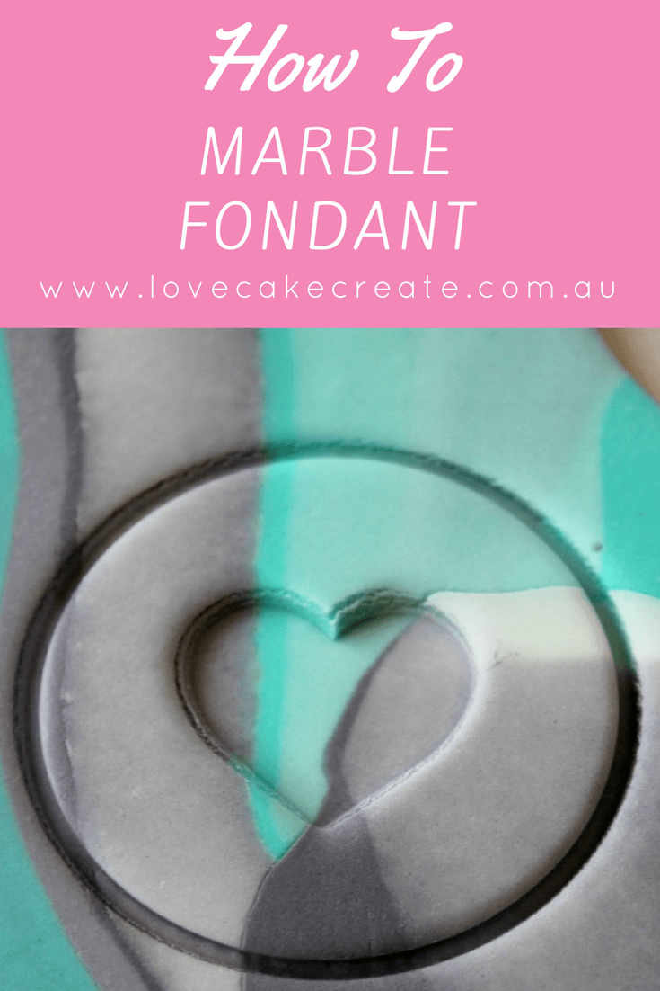 Learn how to easily marble fondant with this step by step tutorial from Love Cake Create