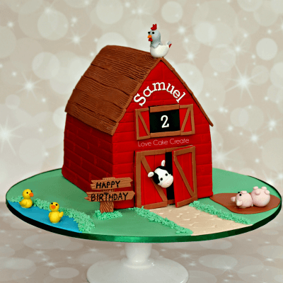 Farmyard Barn Cake Tutorial - by Love Cake Create