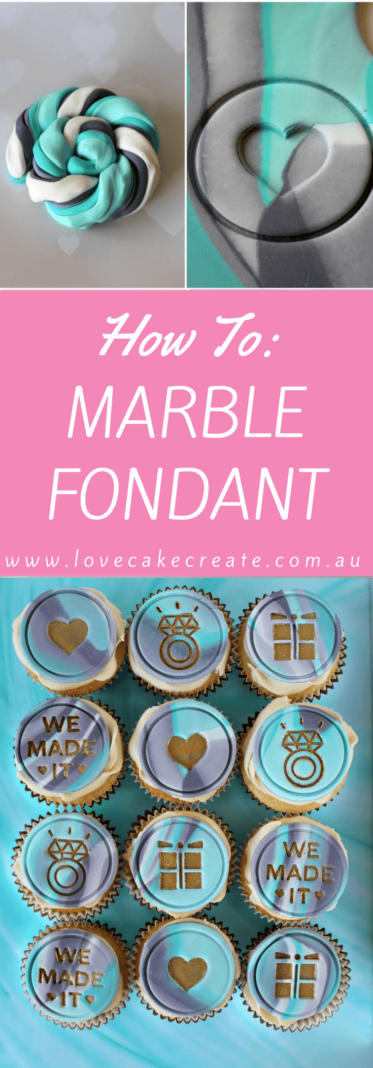 How to Marble Fondant - by Love Cake Create