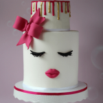 How to make a Lips and Lashes cake