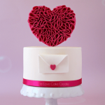 How to make a Valentine's Day ruffle heart cake
