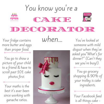 You know you're a cake decorator when - by Love Cake Create