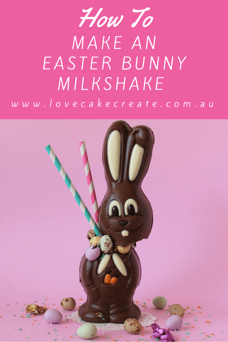 How to Make an Easter Bunny Milkshake - by Love Cake Create
