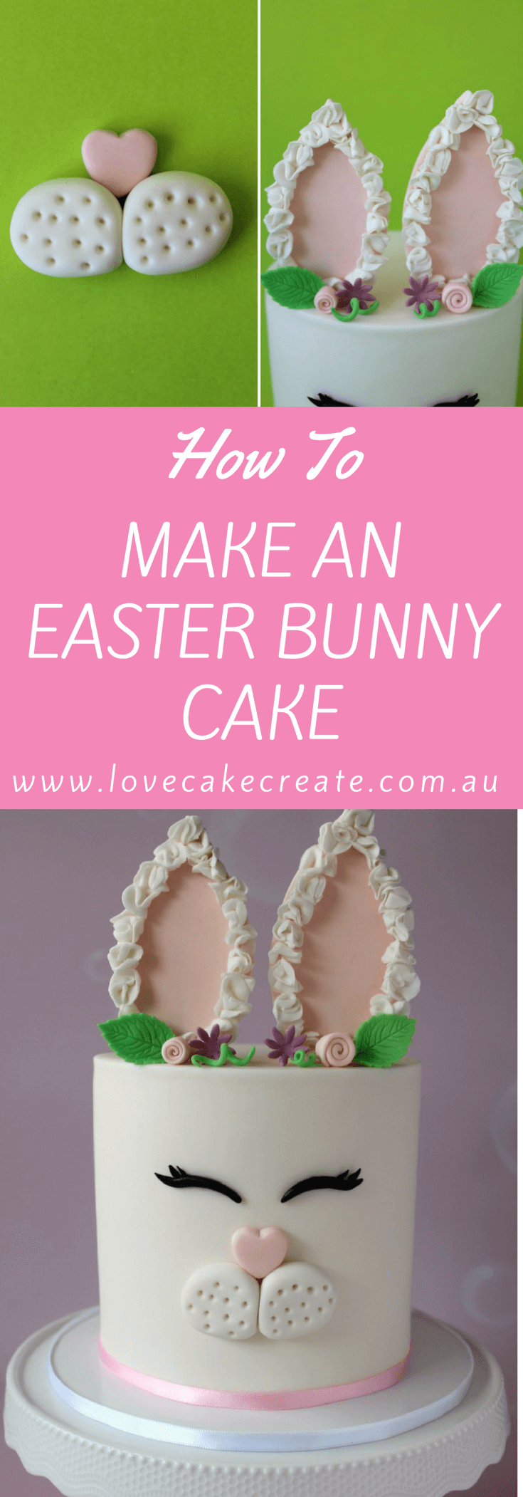 How to make an Easter Bunny Cake - by Love Cake Create