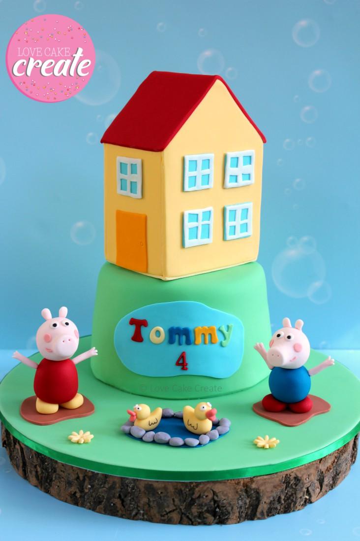 Peppa Pig Cake Topper Tutorial - Love Cake Create