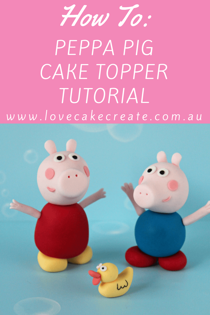 How To Make A Fondant Peppa Pig Cake Topper