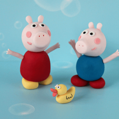 Peppa Pig Fondant Cake Topper Tutorial