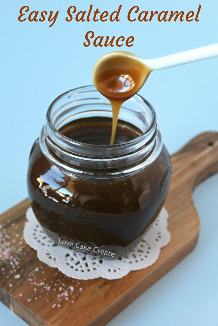 Create an easy and delicious salted caramel sauce, perfect for making a showstopping drip cake! Click through for the recipe and tutorial. By Love Cake Create