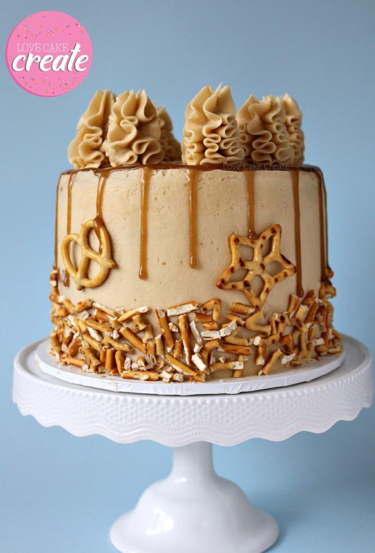 How to make a salted caramel drip cake - by Love Cake Create