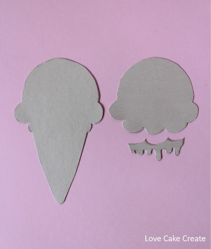 How to make an ice cream cake topper - by Love Cake Create