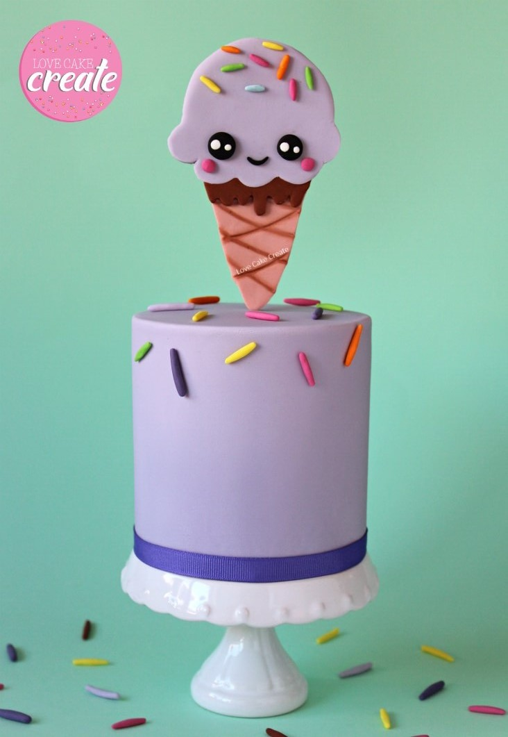 How to make an ice cream cone cake topper - by Love Cake Create