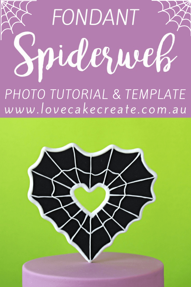 How To Make A Fondant Spiderweb - by Love Cake Create