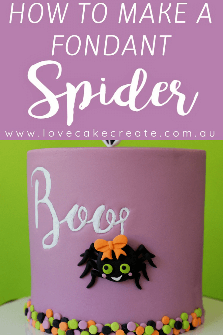 How to Make A Fondant Spider - by Love Cake Create