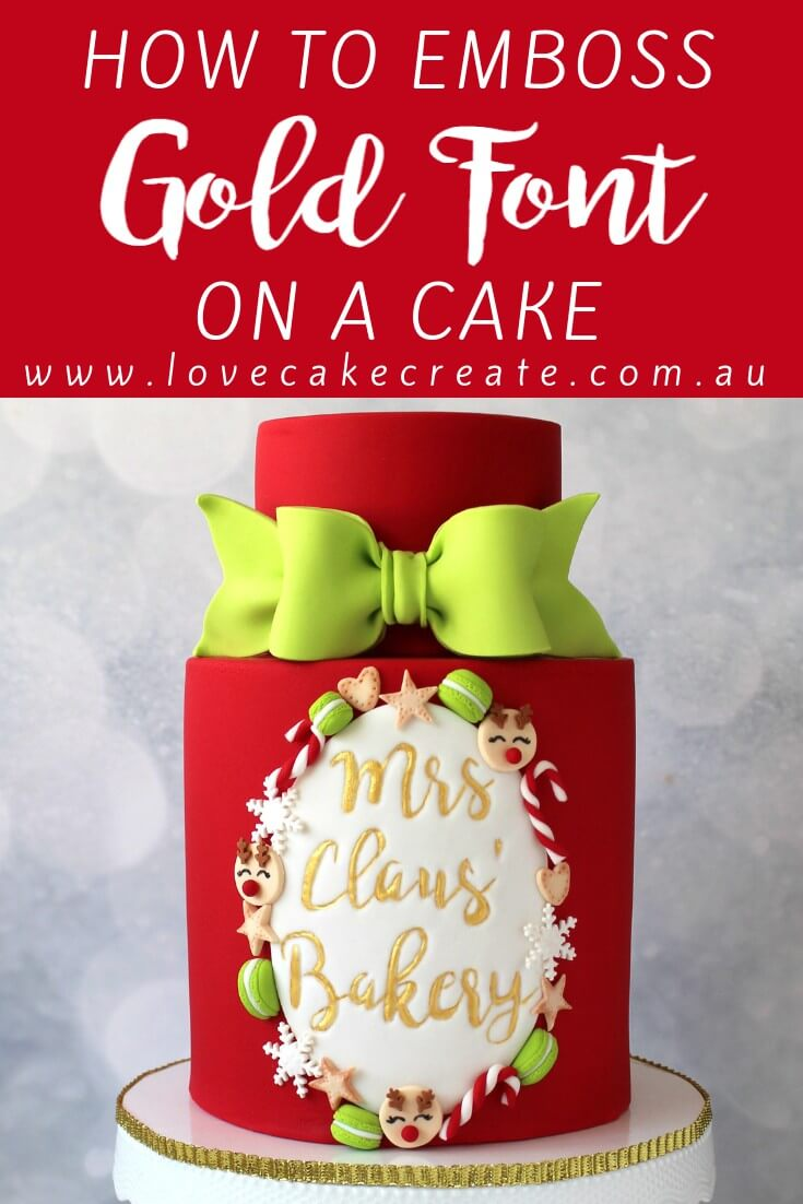 How To Emboss Gold Font On A Cake - by Love Cake Create