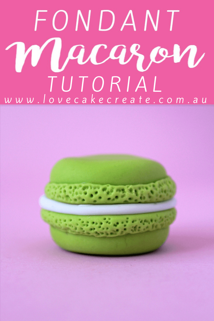 How To Make A Fondant Macaron - by Love Cake Create