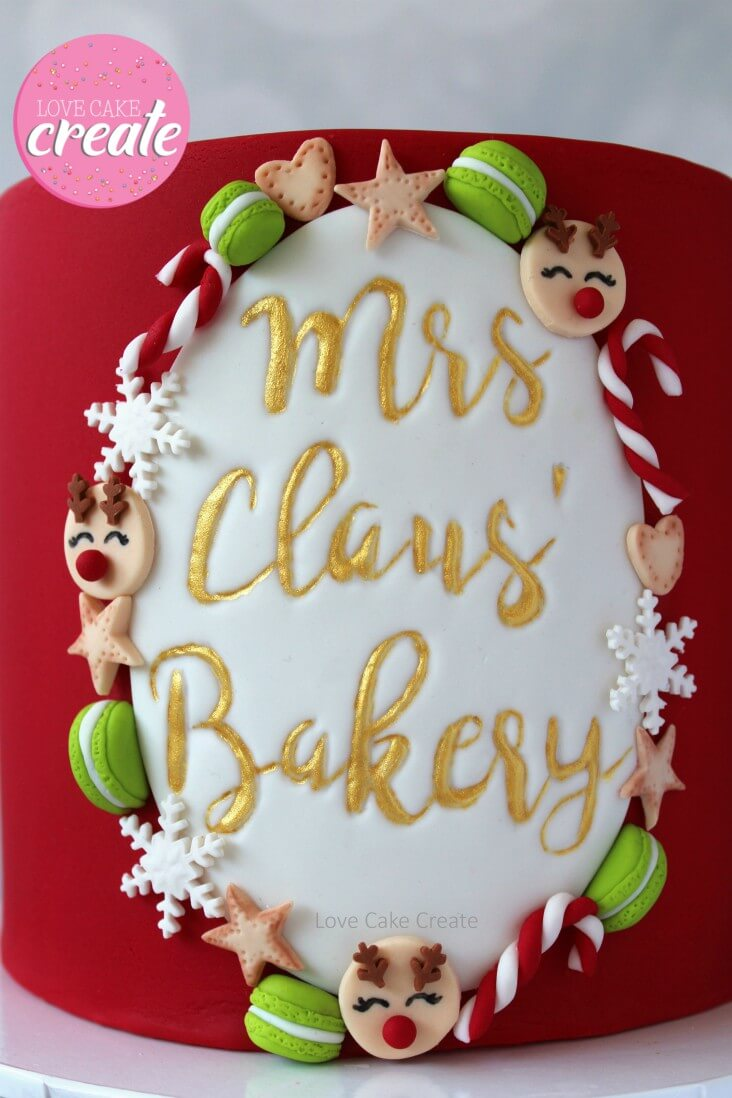 How To Make A Mrs Claus' Bakery Cake - by Love Cake Create
