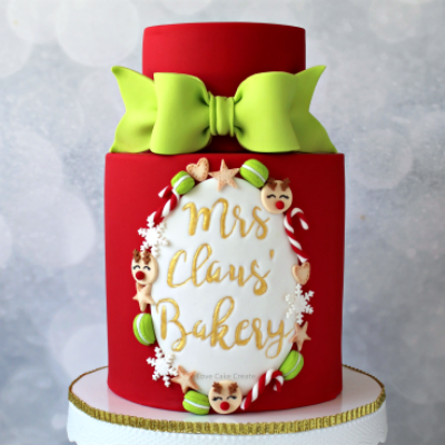How To Make A Mrs Claus' Bakery Cake